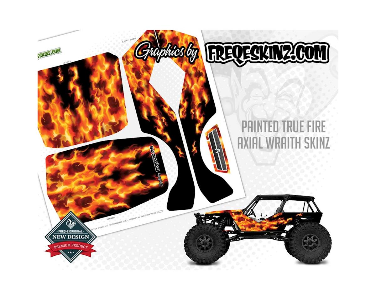Freqeskinz 20518 sKinz Painted True Fire Design Axial Wraith