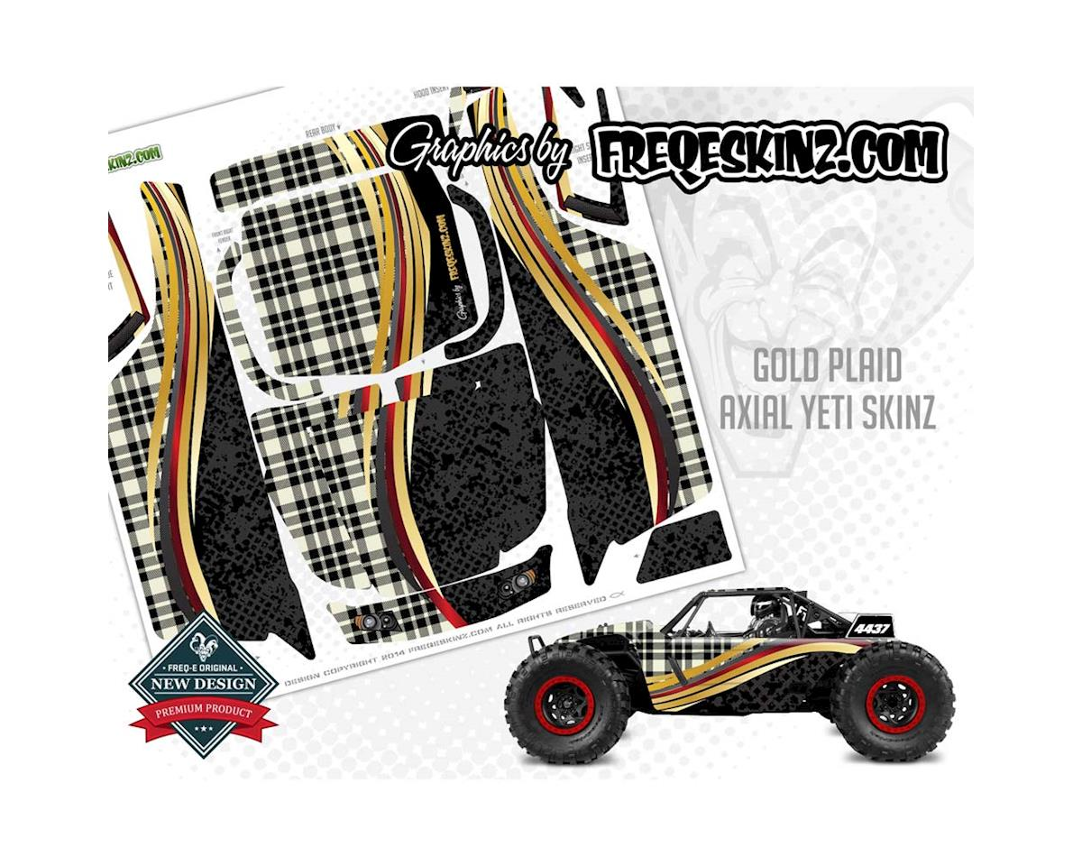 Freqeskinz sKinz Gold Plaid Design Axial Yeti