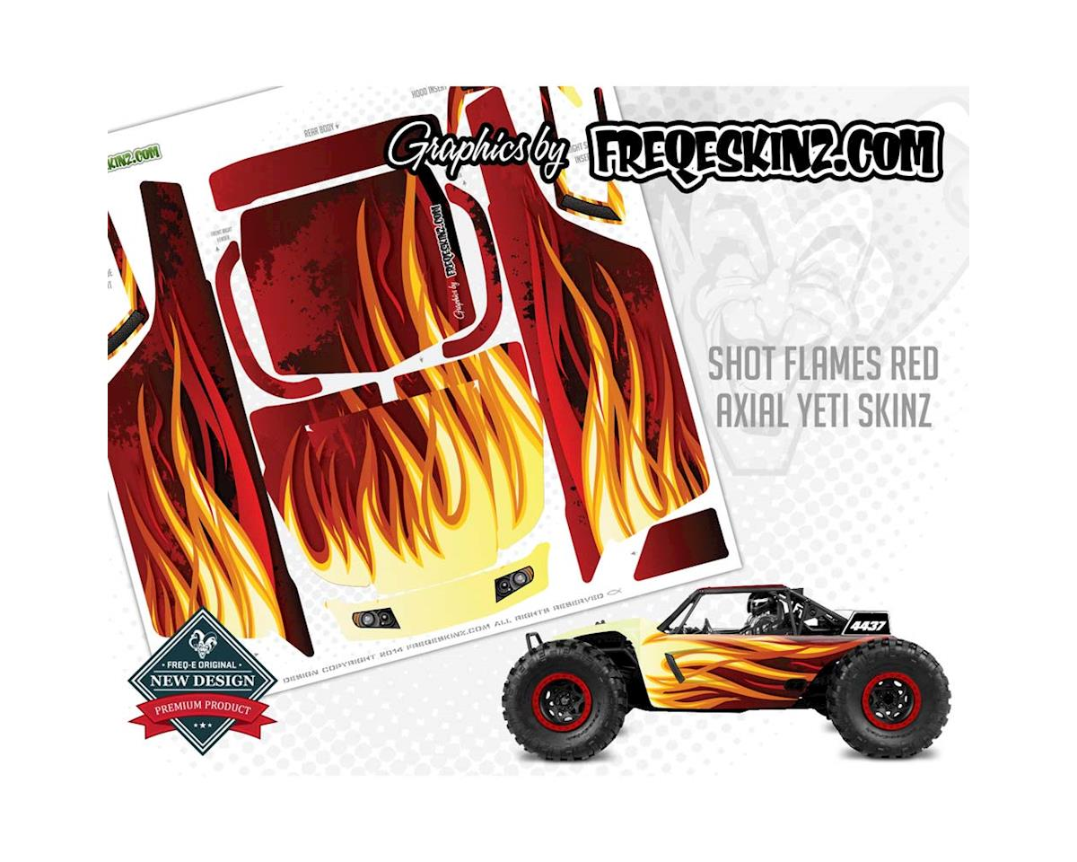 Freqeskinz sKinz Shot Flames Red Design Axial Yeti