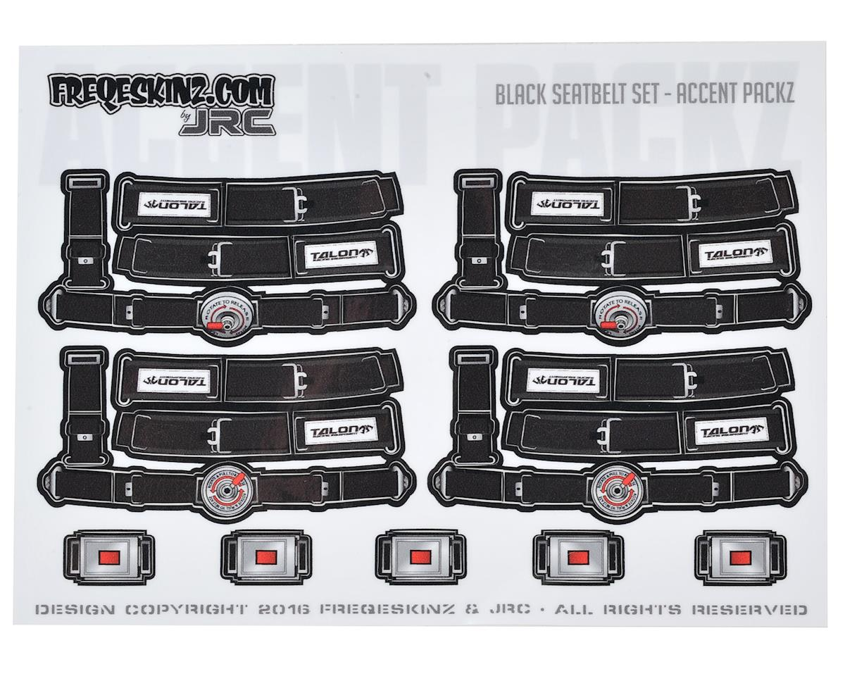 Freqeskinz Race Day JRC 1/10 Seatbelt Decal Set (Black)