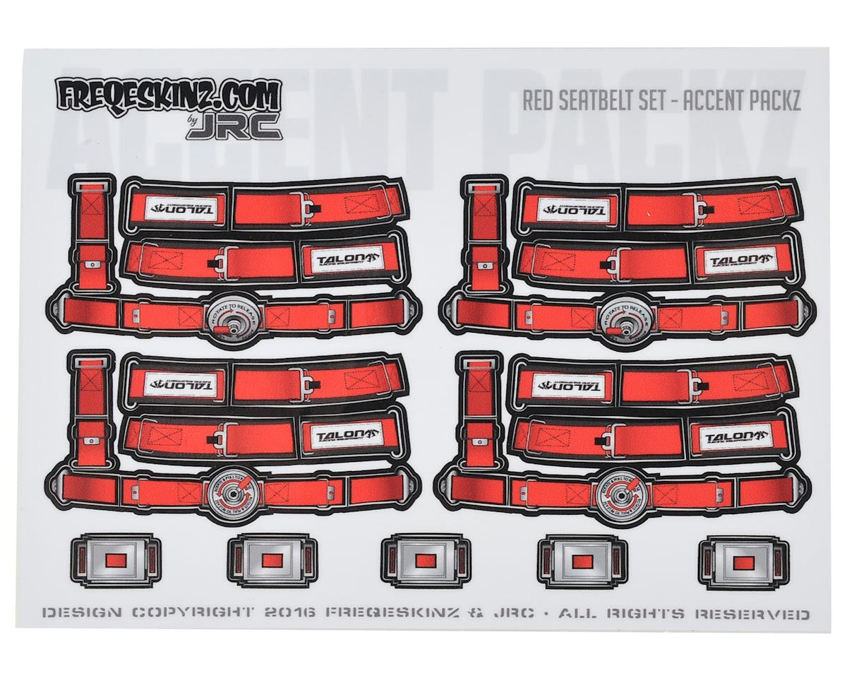 Freqeskinz Race Day JRC 1/10 Seatbelt Decal Set (Red)