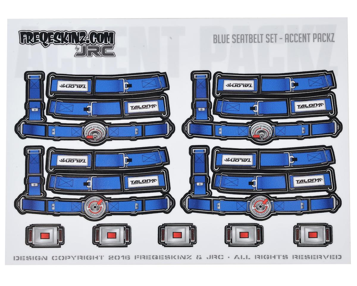 Freqeskinz Race Day JRC 1/10 Seatbelt Decal Set (Blue)