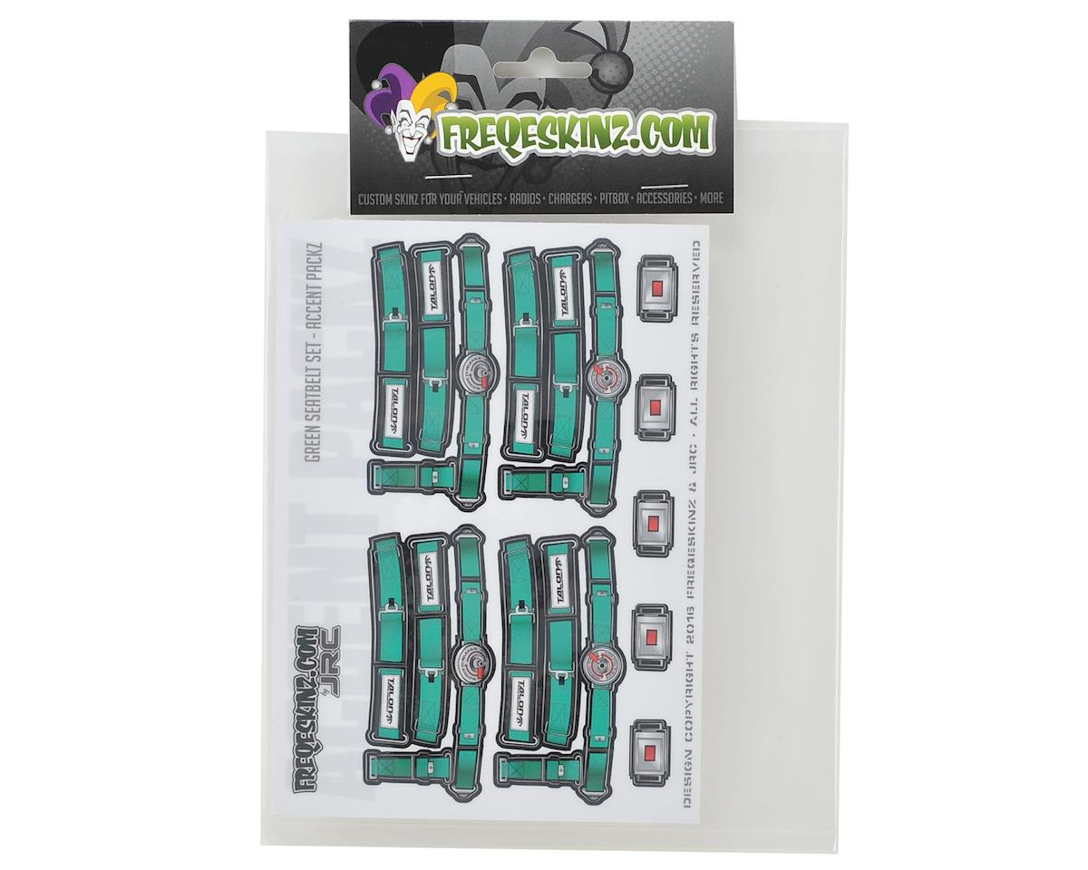 Freqeskinz Race Day JRC 1/10 Seatbelt Decal Set (Green)