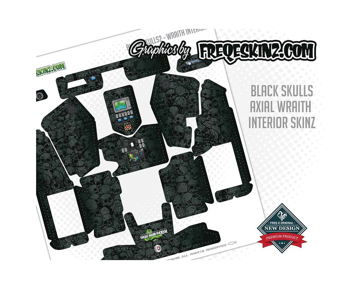 Freqeskinz Interior sKinz Black Skulls Axial Wraith