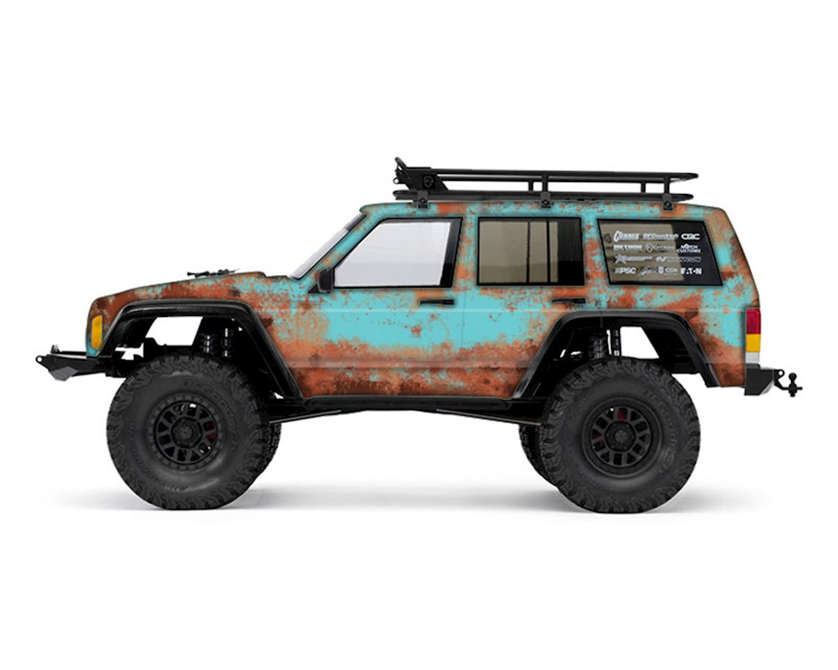 Freqeskinz Axial 2000 Jeep Cherokee Rust Bucket Series Body Wrap (Blue)