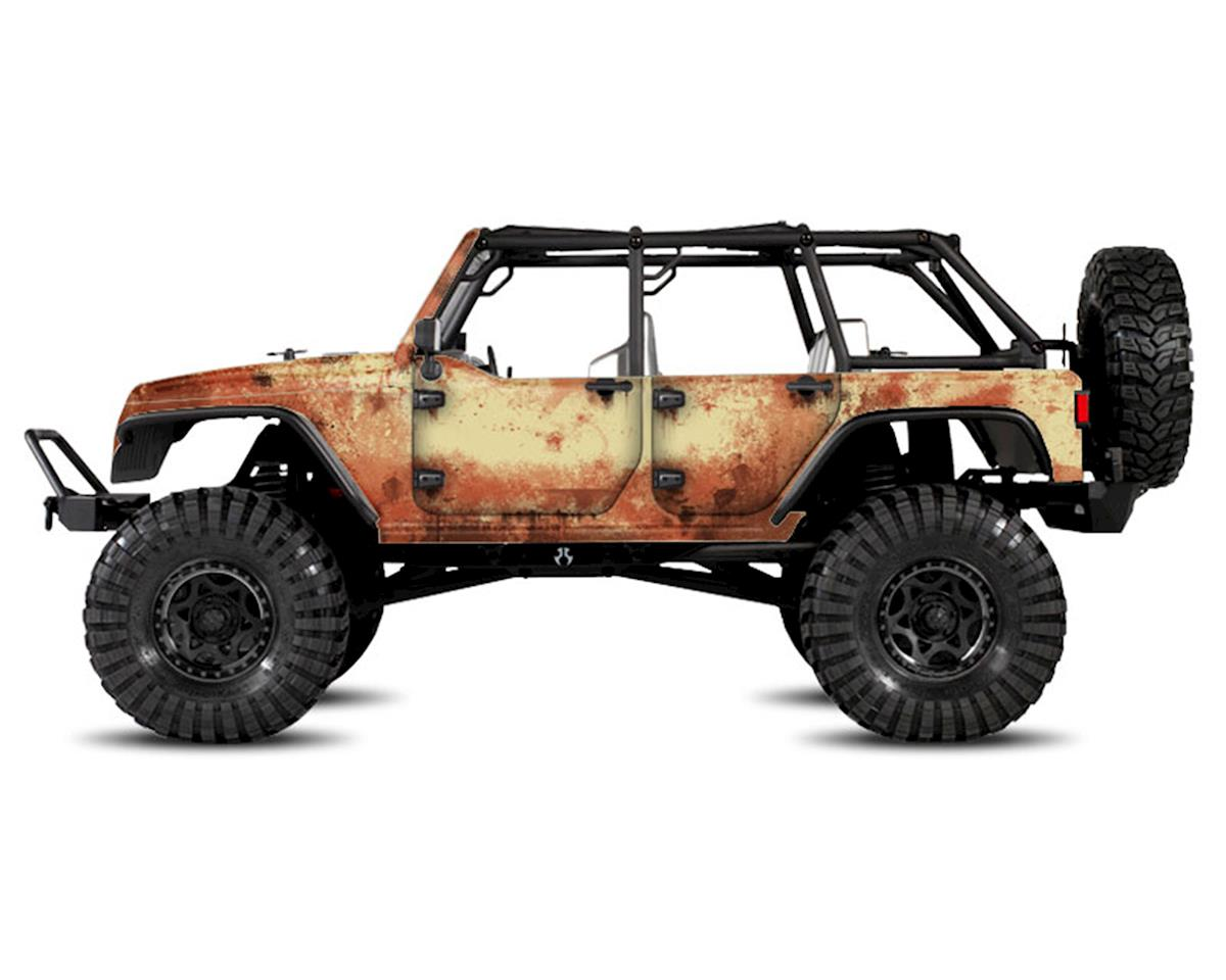 Axial Jeep Rubicon Rust Bucket Series Body Wrap (Beige) by Freqeskinz