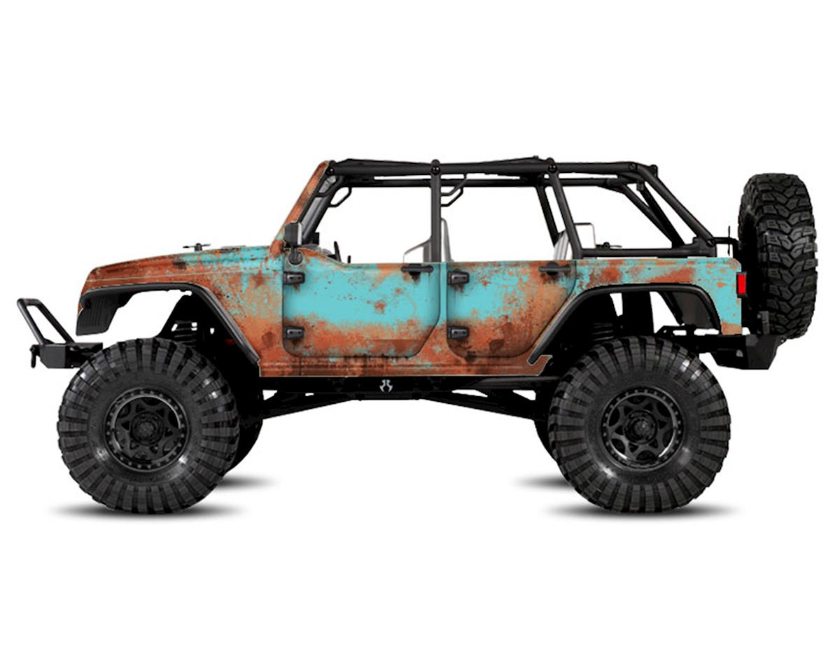 Axial Jeep Rubicon Rust Bucket Series Body Wrap (Blue) by Freqeskinz