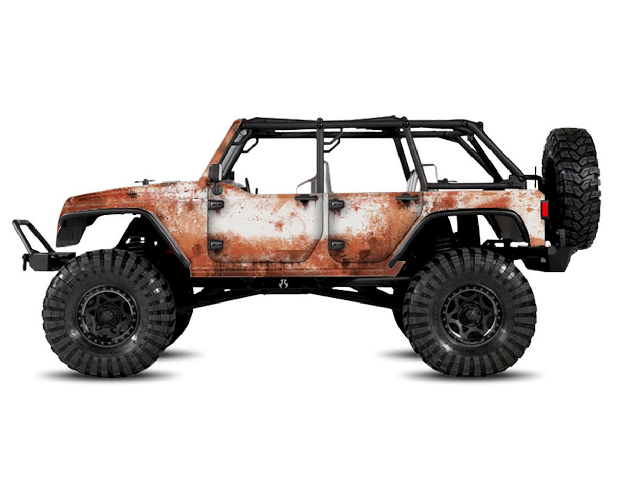 Freqeskinz Axial Jeep Rubicon Rust Bucket Series Body Wrap (White)