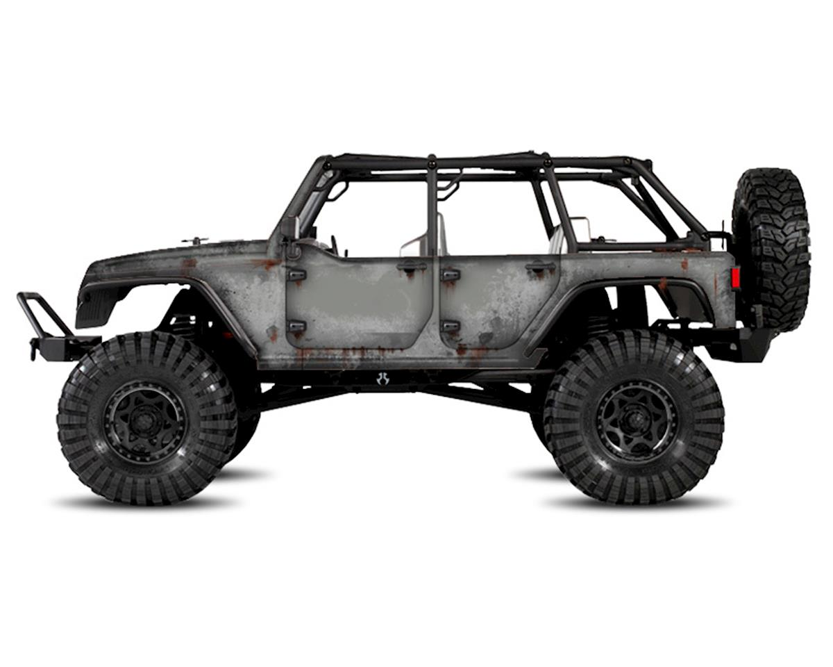 Freqeskinz Axial Jeep Rubicon PRIMER Series Body Wrap (Billet Silver)