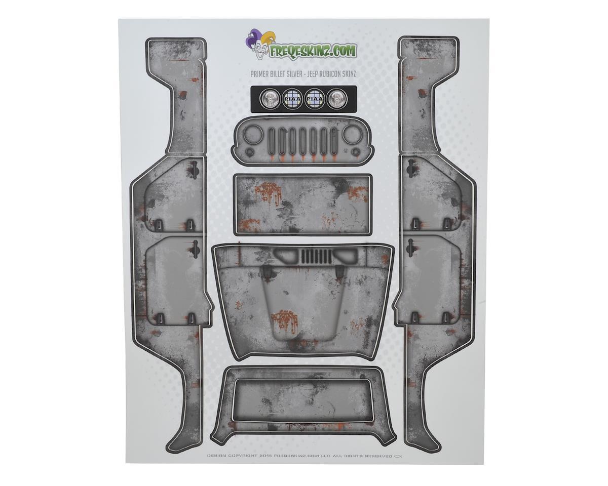 Freqeskinz Axial Jeep Rubicon PRIMER Series Body Wrap (Billet Silver)