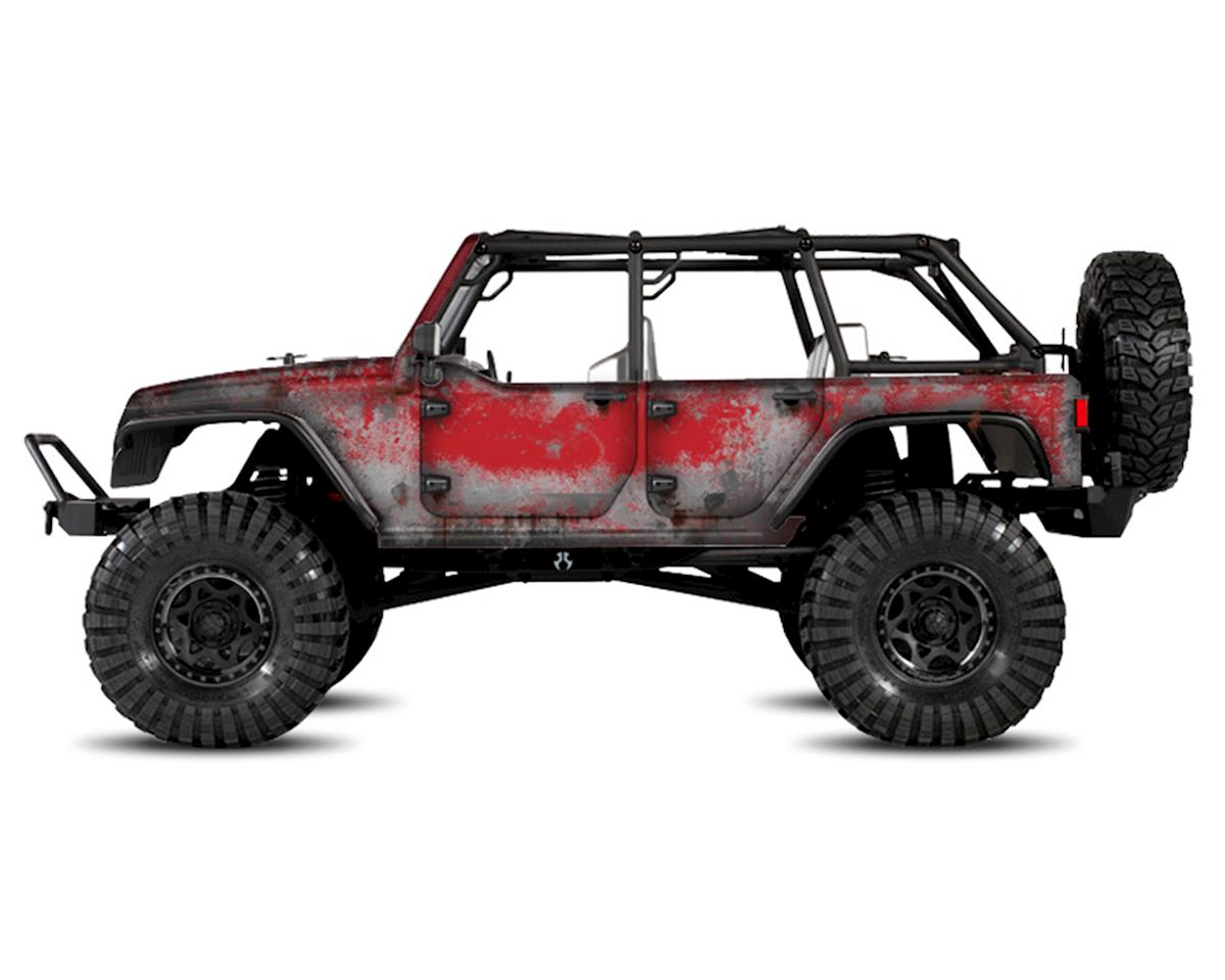 Freqeskinz Axial Jeep Rubicon PRIMER Series Body Wrap (Flame Red)
