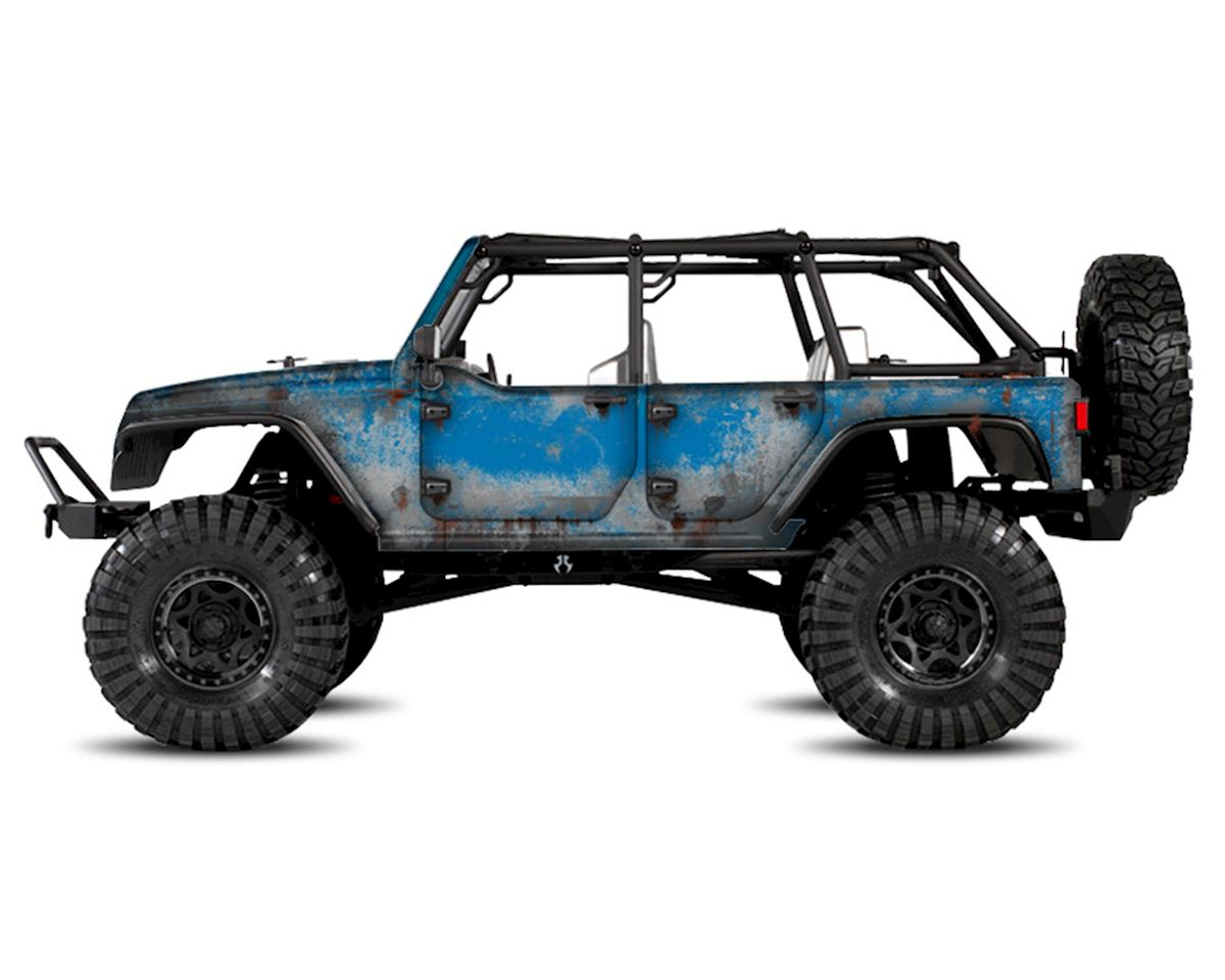 Axial Jeep Rubicon PRIMER Series Body Wrap (Hydro Blue) by Freqeskinz