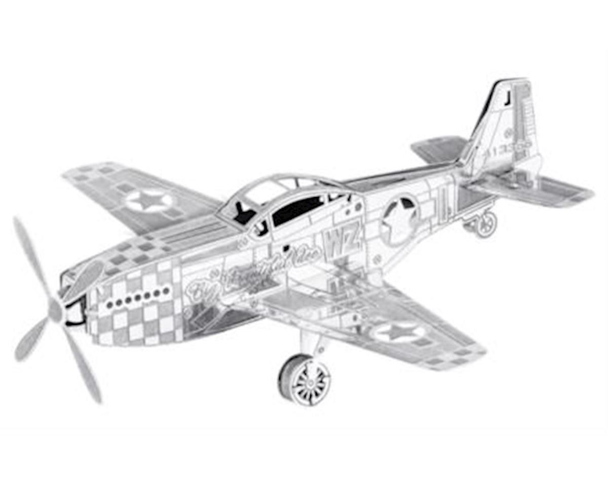 Fascinations Metal Earth MMS003 3D Laser Cut Model - Mustang P-51 Plane