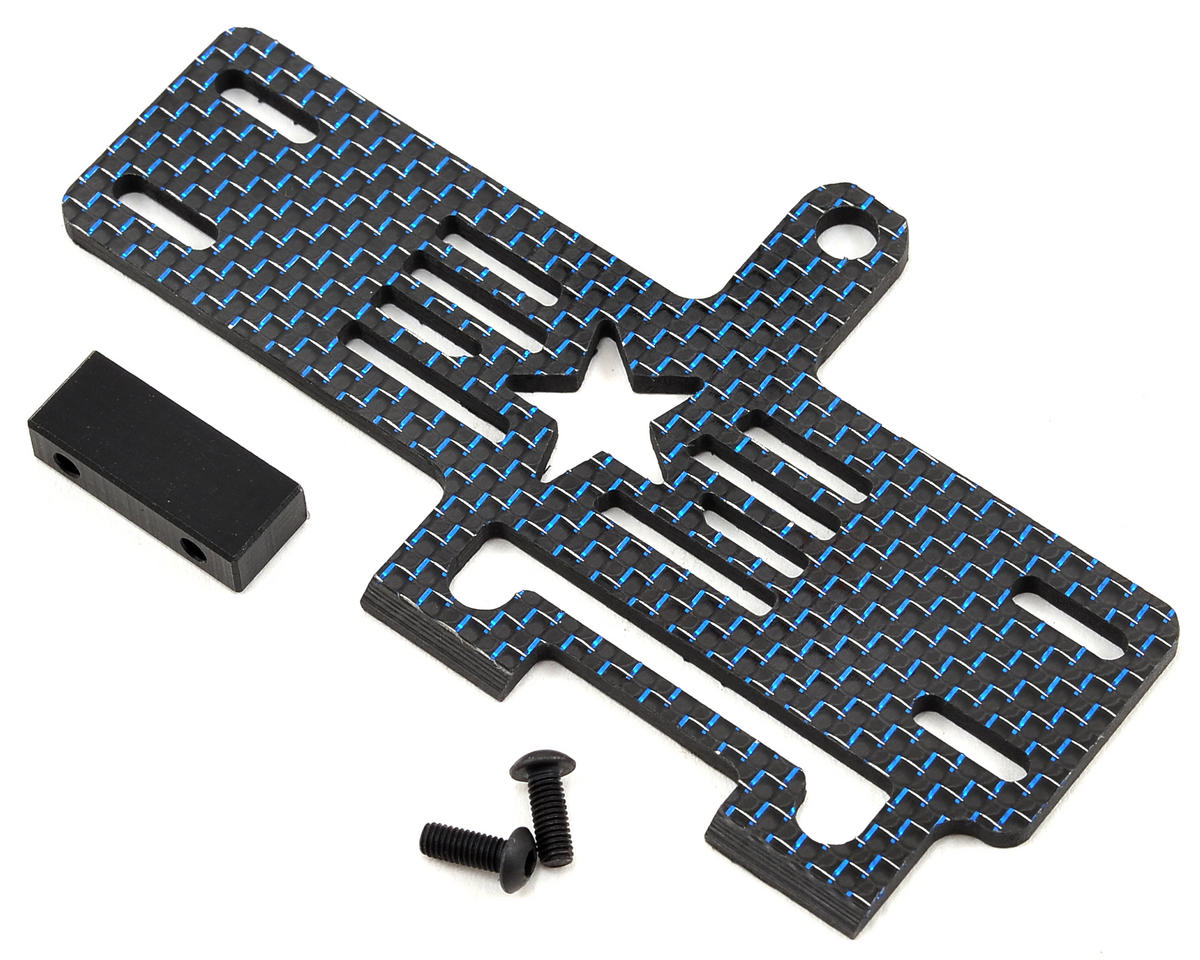 Factory RC Carbon Fiber 22-4 Shorty Brace w/Stop (Blue)