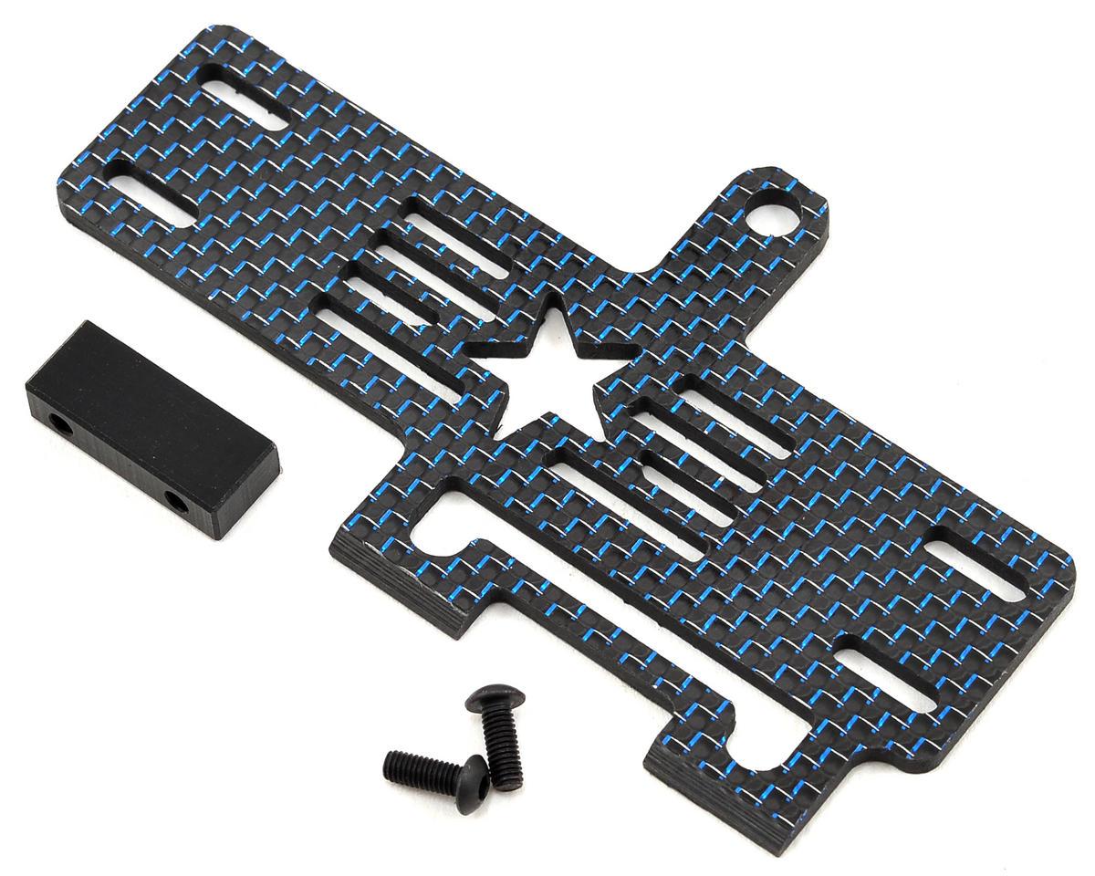 Factory RC Carbon Fiber 22-4 Shorty Brace w/Stop (Blue)