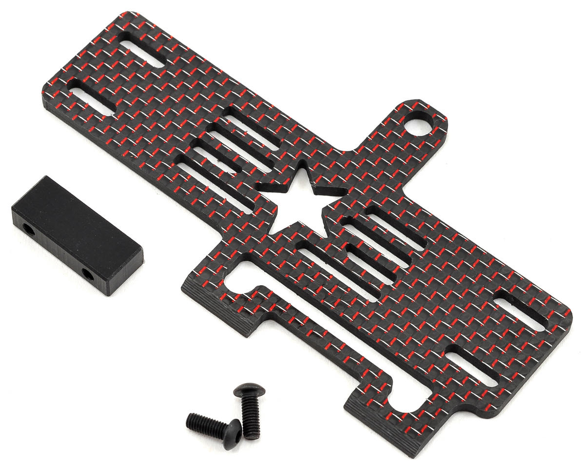 Factory RC Carbon Fiber 22-4 Shorty Brace w/Stop (Red)