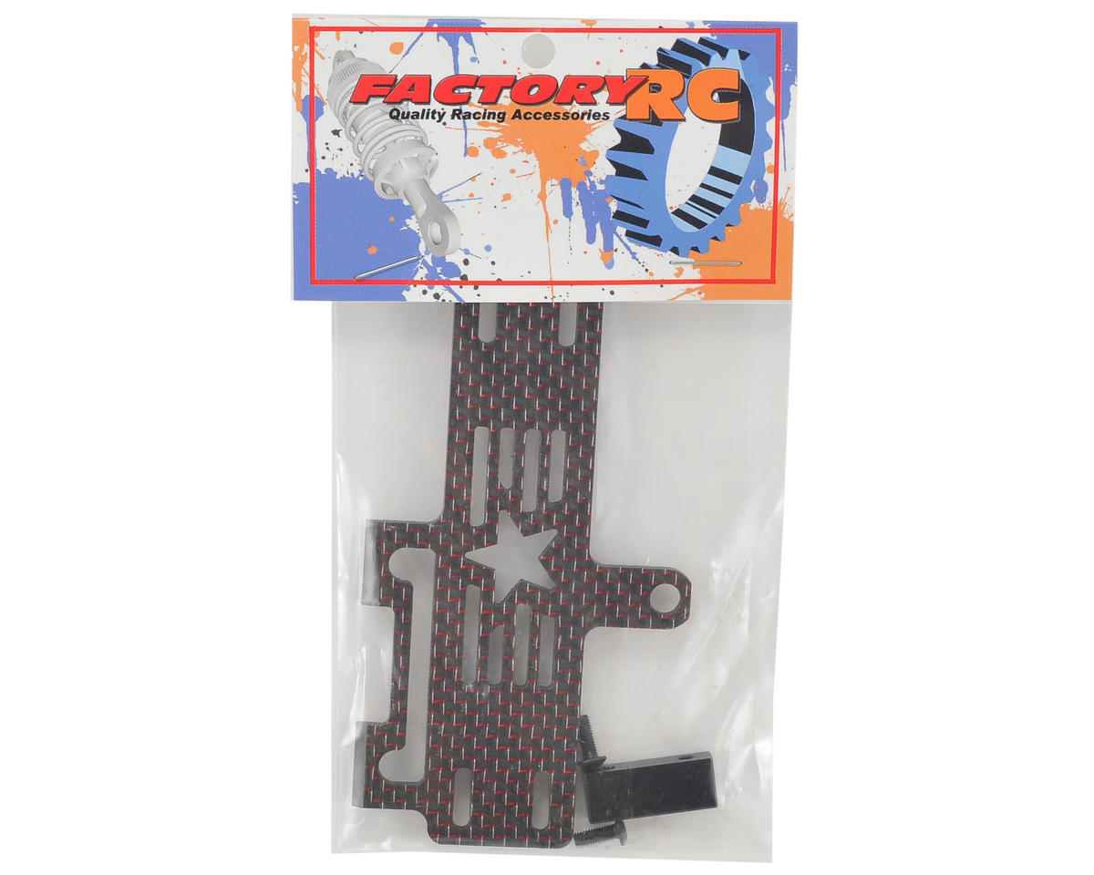 Factory RC Carbon Fiber 22-4 Shorty Brace w/Stop (Red)