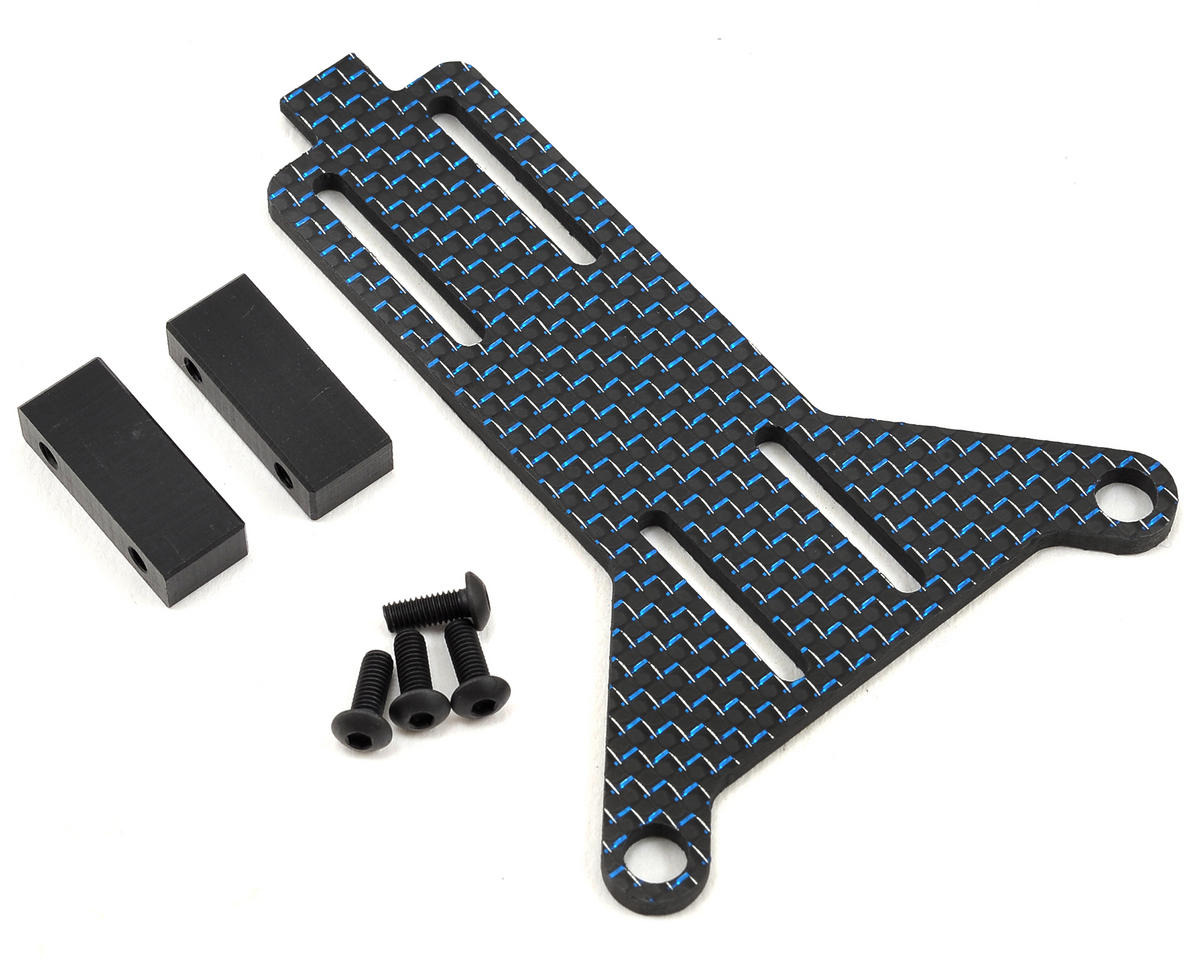 Factory RC B5M/T5M Carbon Fiber Adjustable Battery Strap (Blue)