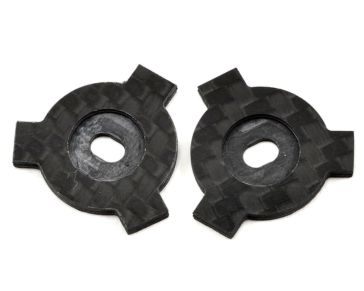 Factory RC Avid/Schelle Carbon Fiber Slipper LockOut Plate Set (2) (Team Durango DEST210R)