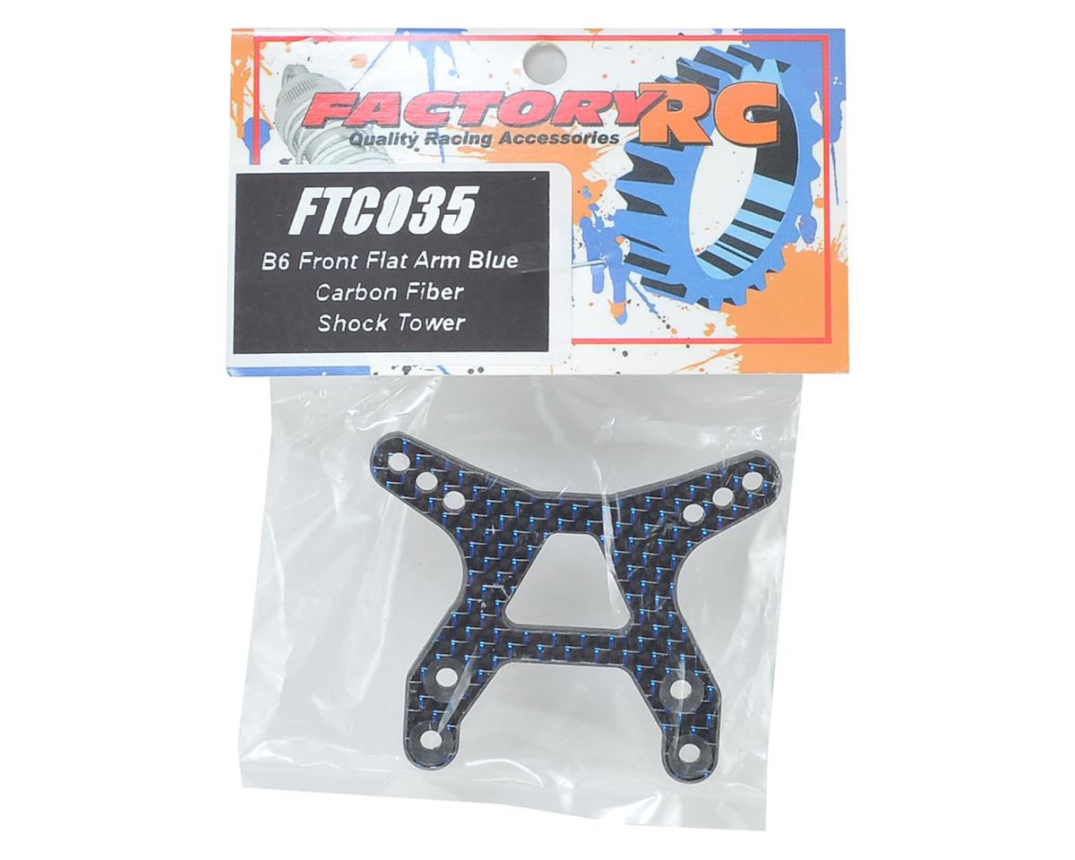 "Factory RC B6/B6D Carbon Fiber ""Flat"" Front Shock Tower (Blue)"
