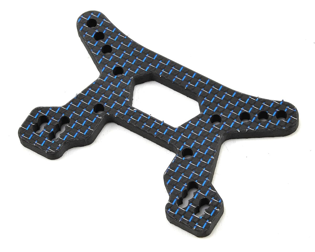 B64D Carbon Fiber Front Shock Tower (Blue) by Factory RC