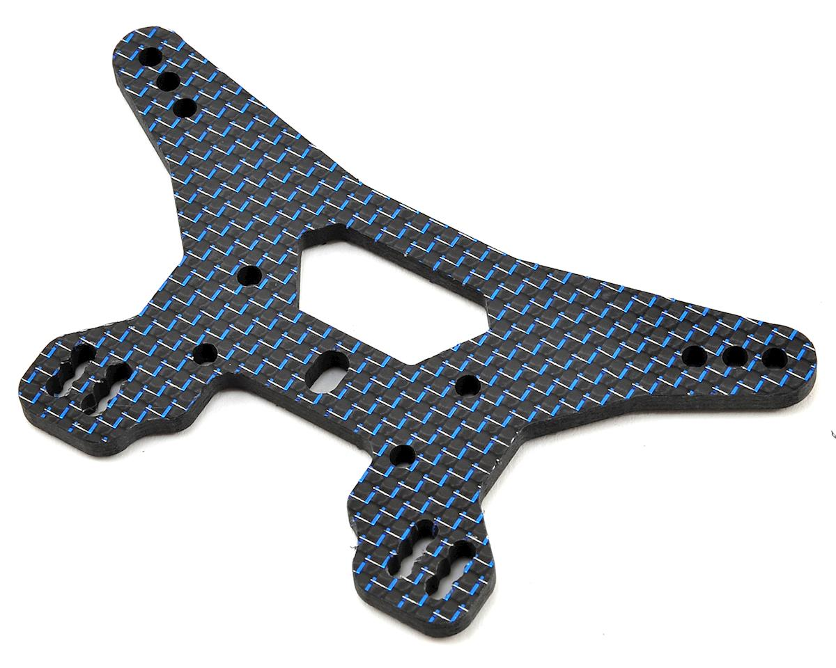 Factory RC B64D Carbon Fiber Rear Shock Tower (Blue)