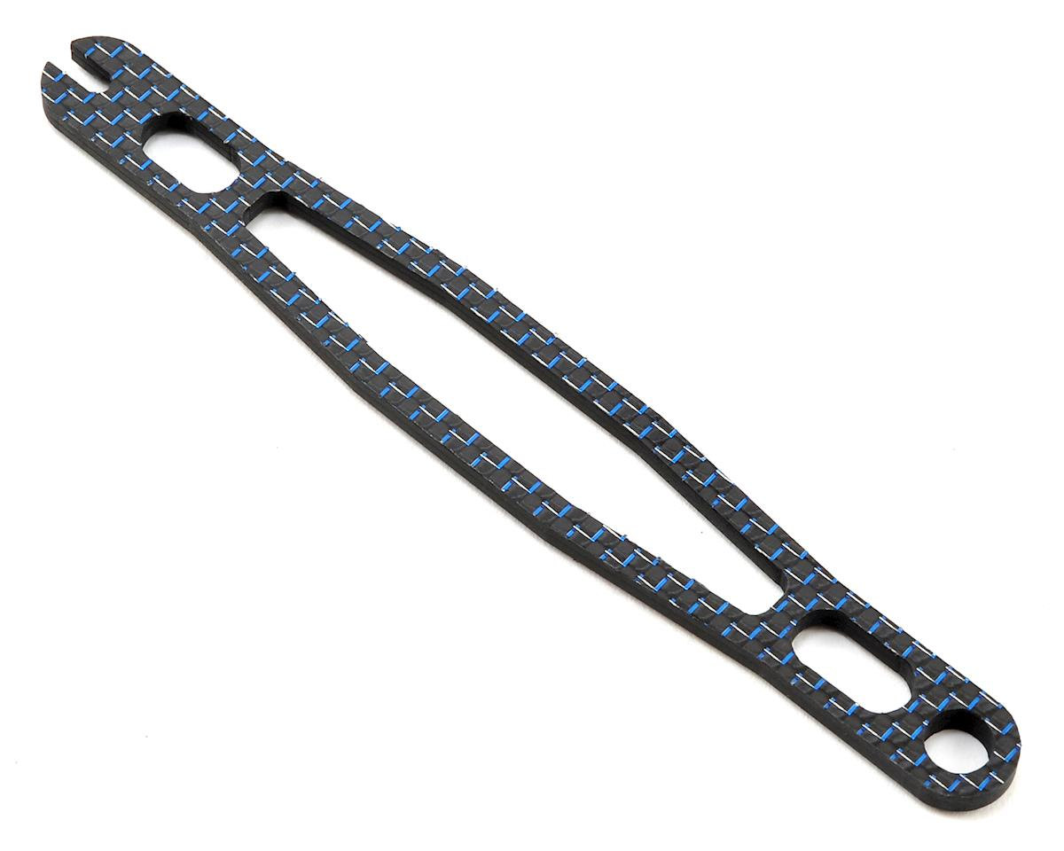 Factory RC B64D Carbon Fiber Battery Strap (Blue)