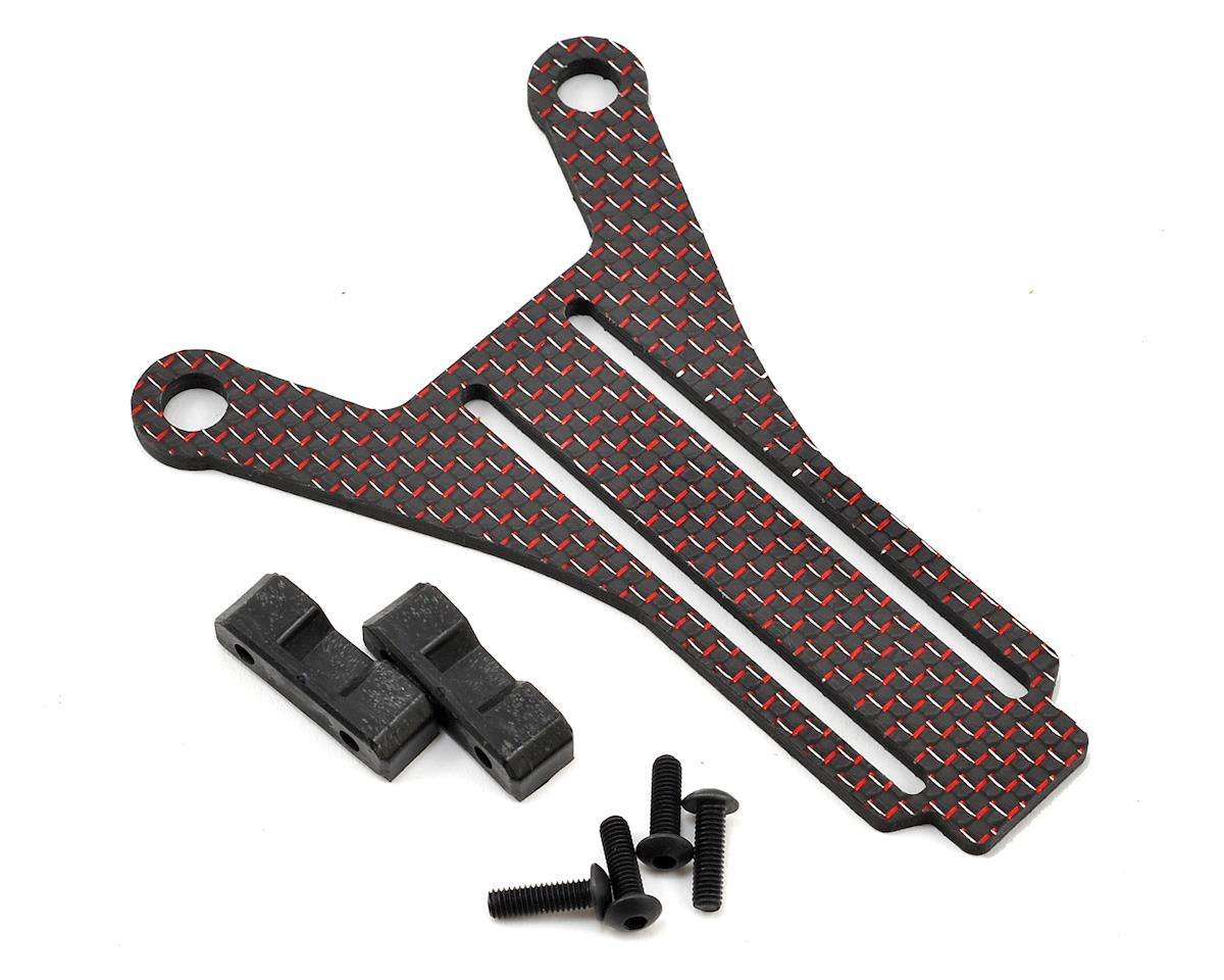 Factory RC Kyosho RB6.6 Carbon Fiber Shorty Brace (Red)