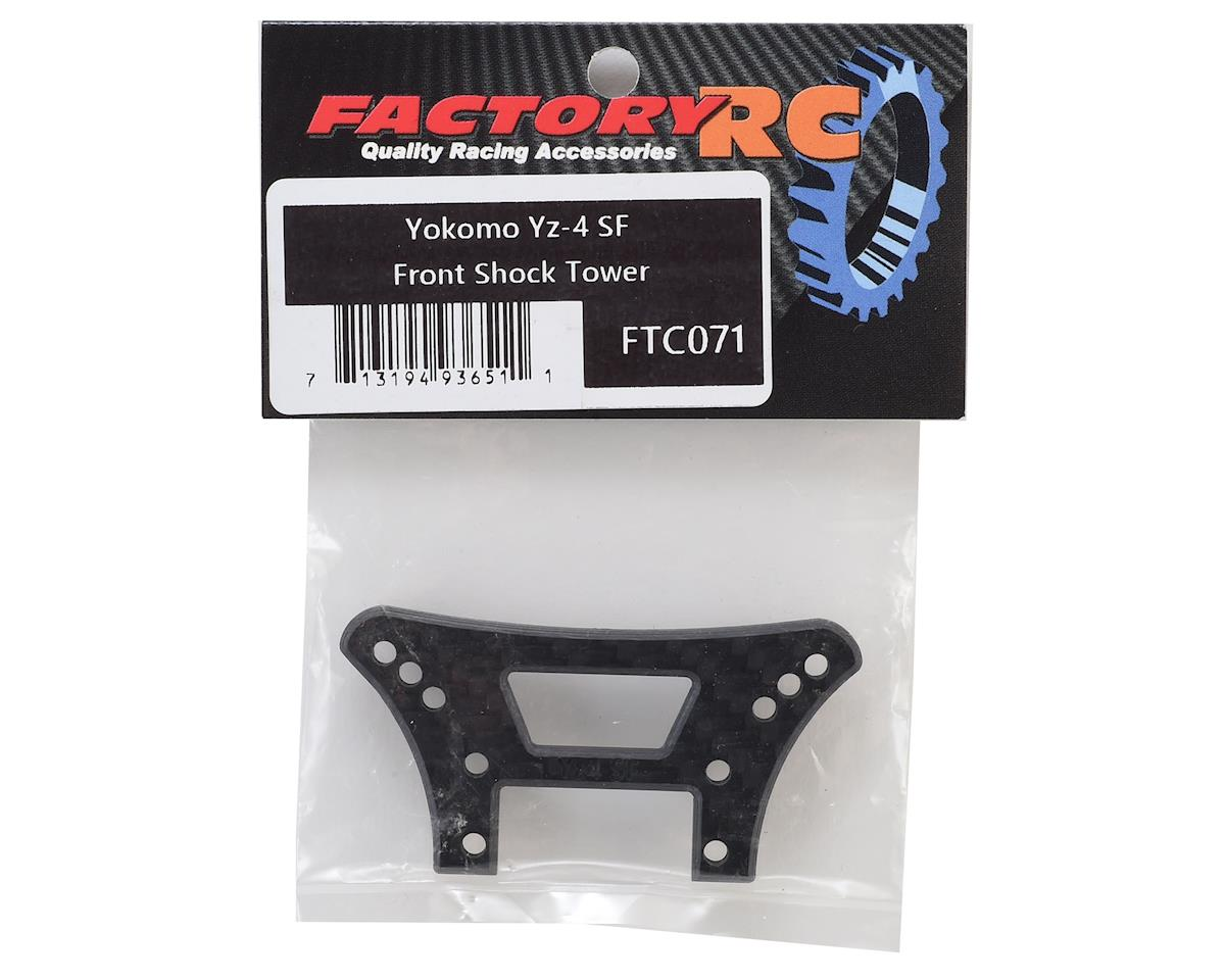 Factory RC 4mm Carbon Yokomo YZ-4 SF Front Shock Tower (Black)