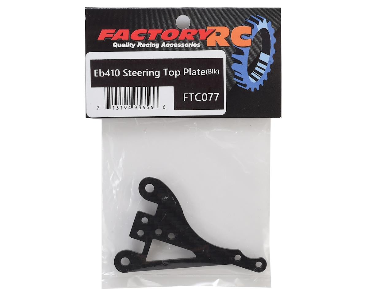 Factory RC Tekno EB410 Steering Top Plate (Black)