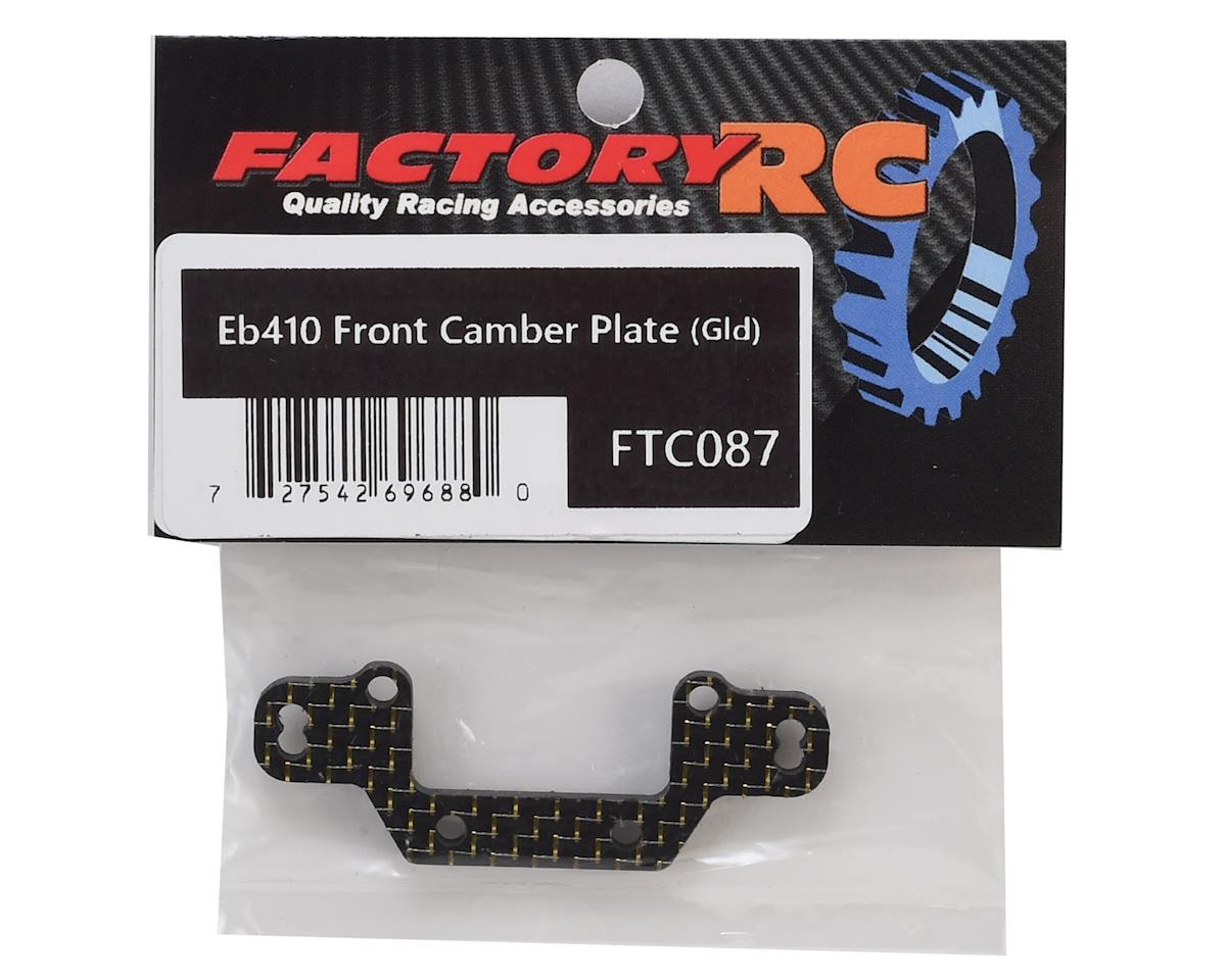 Factory RC Tekno EB410 Front Camber Plate (Gold)