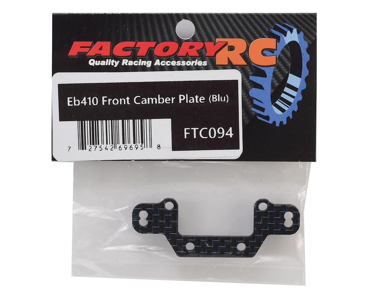 Factory RC Tekno EB410 Front Camber Plate (Blue)