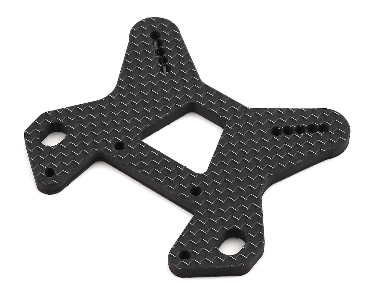 Factory RC MBX8 Carbon Fiber Front Shock Tower (Black)