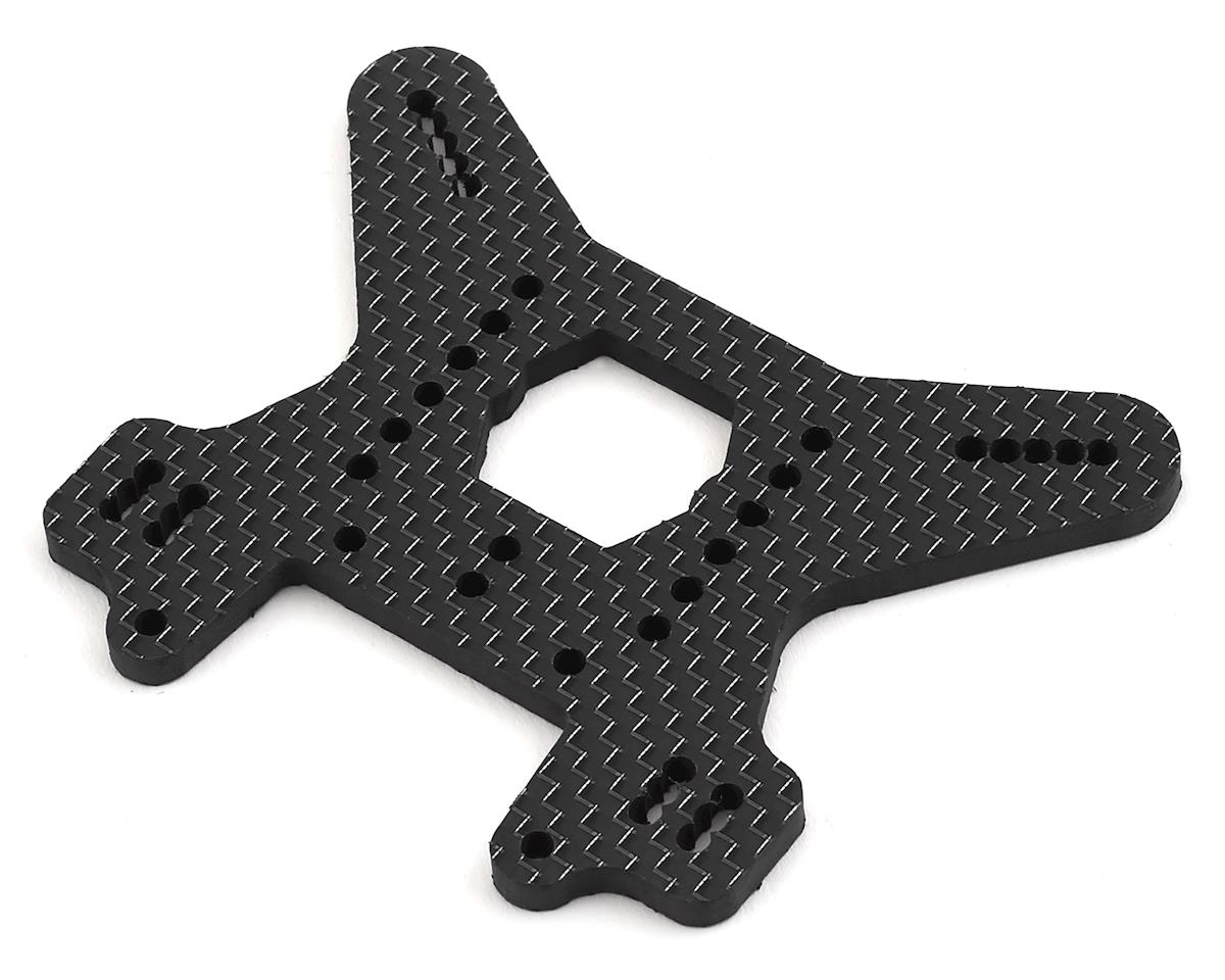 Factory RC MBX8 Carbon Fiber Rear Shock Tower (Black)