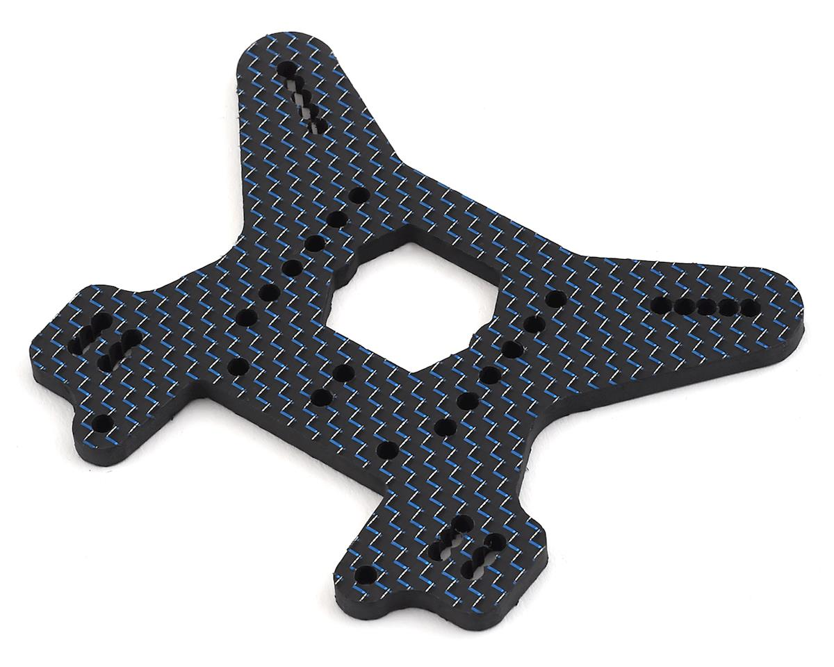 Factory RC MBX8 Carbon Fiber Rear Shock Tower (Blue)