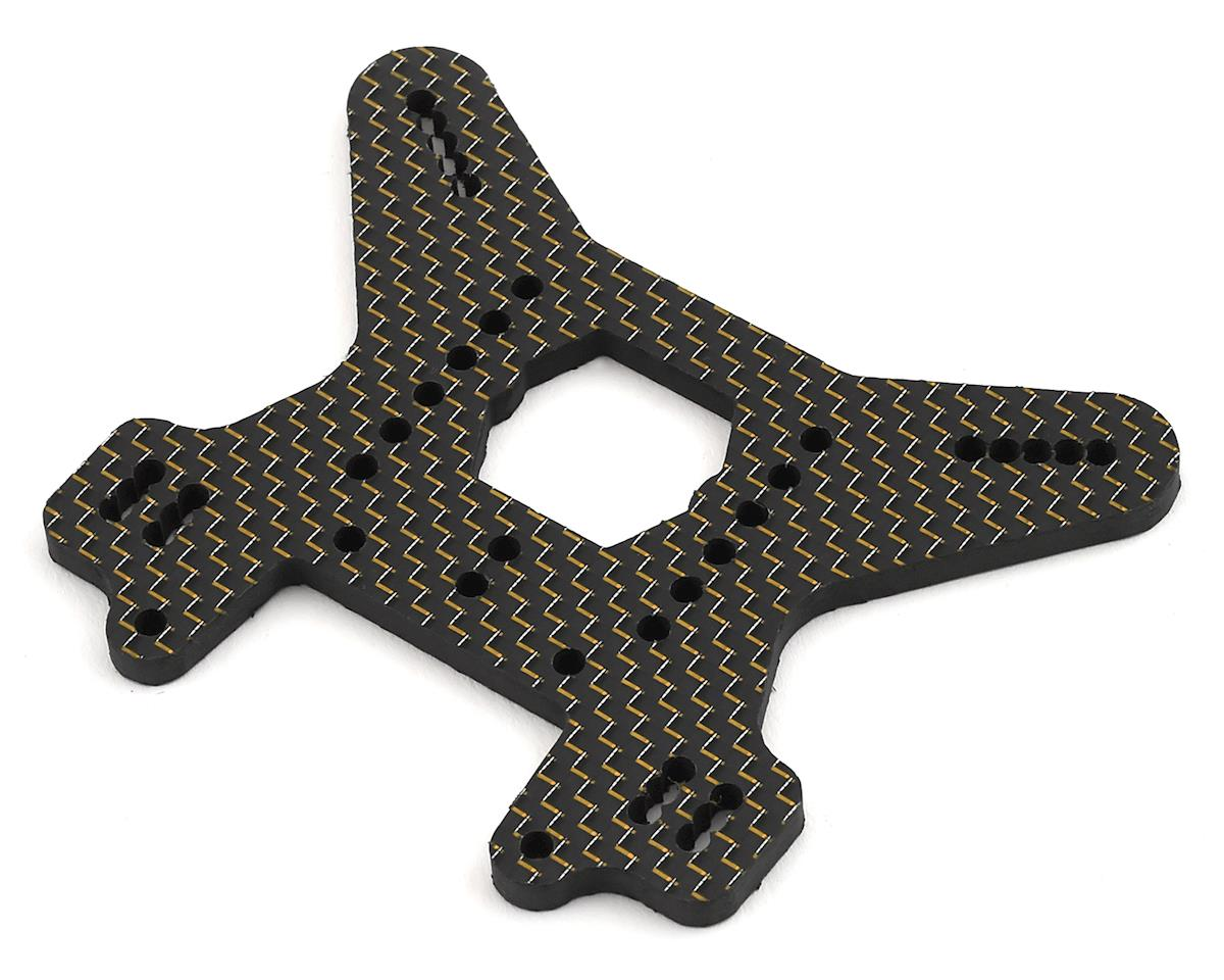 Factory RC MBX8 Carbon Fiber Rear Shock Tower (Gold)