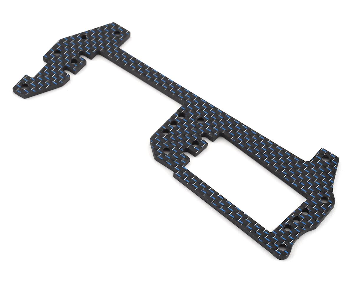 Factory RC MBX8 Carbon Fiber Radio Tray (Blue)
