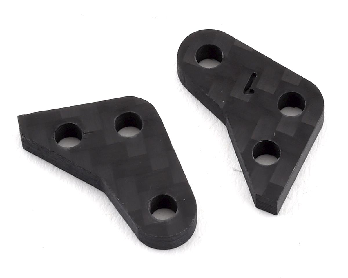 Factory RC Yokomo YZ-2T 1.0mm Offset Steering Block Plate (Black)