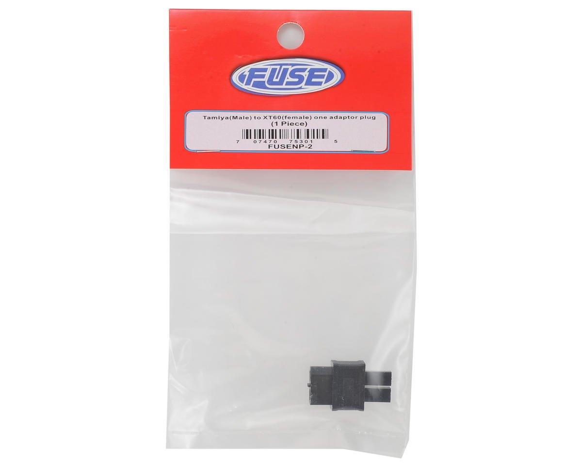 Fuse Battery One Piece Adapter Plug (Tamiya Male to XT60 Female)