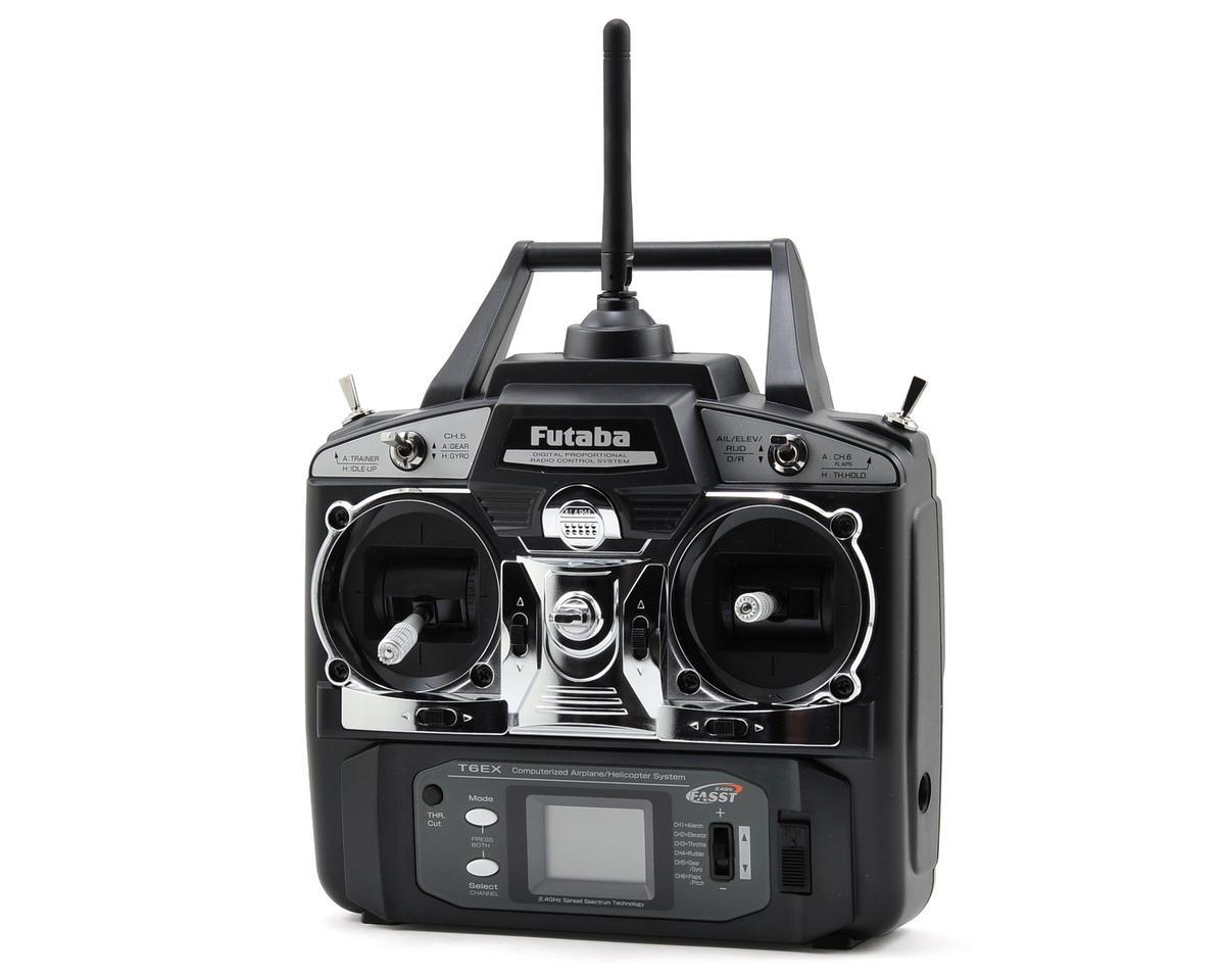 Futaba 6EX 2.4GHz FASST Helicopter Radio System w/R617FS Receiver and 4-S3001 Servos