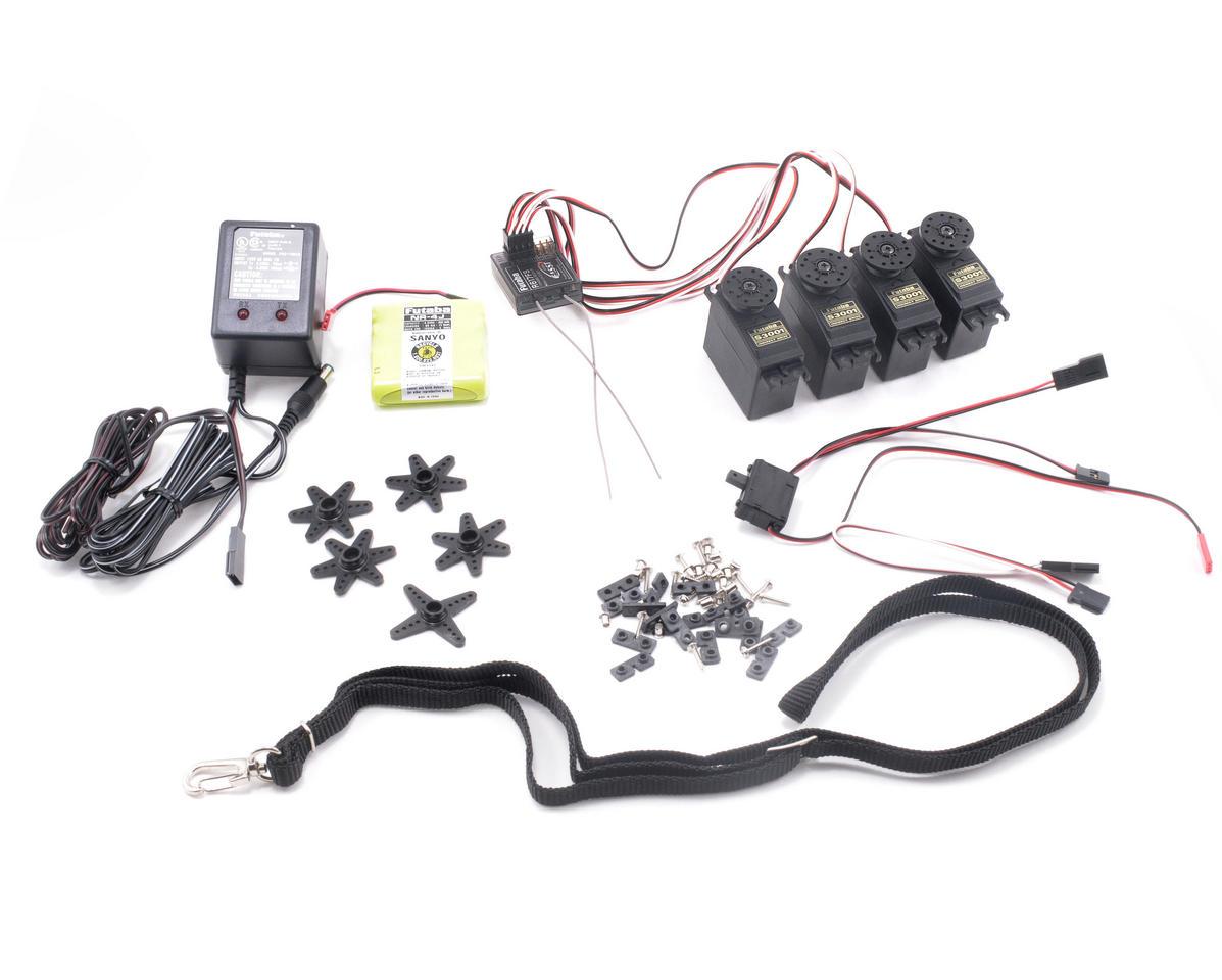 futaba 6ex 2 4ghz fasst helicopter radio system w  r617fs