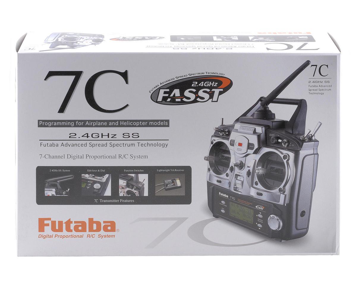 Futaba 7C 2.4GHz FASST Helicopter Radio System w/4-S3152 Servos & R617FS Receiver