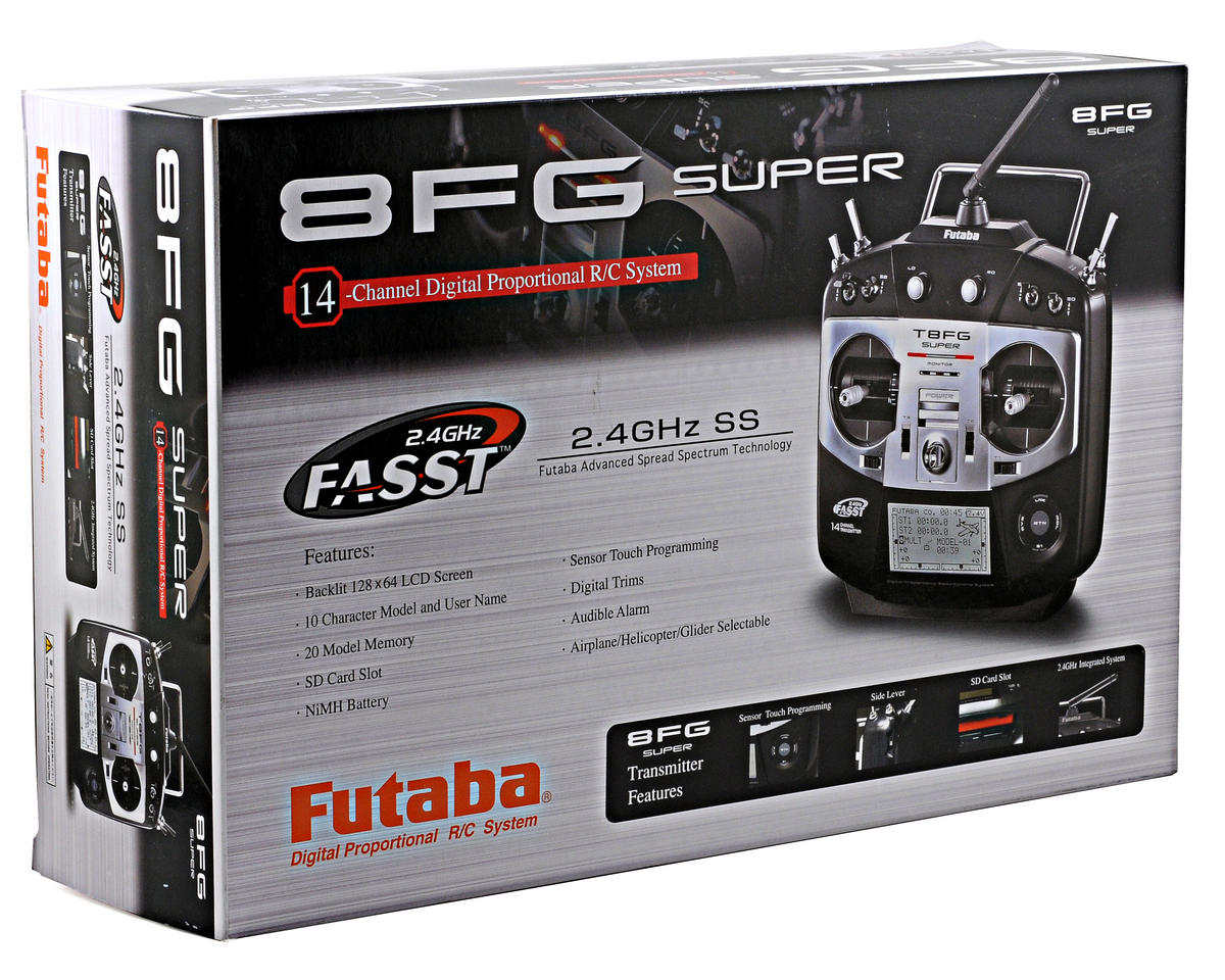 Futaba 8FG Super 2.4GHz FASST 14-Channel Airplane Radio System w/R6208SB Receiver