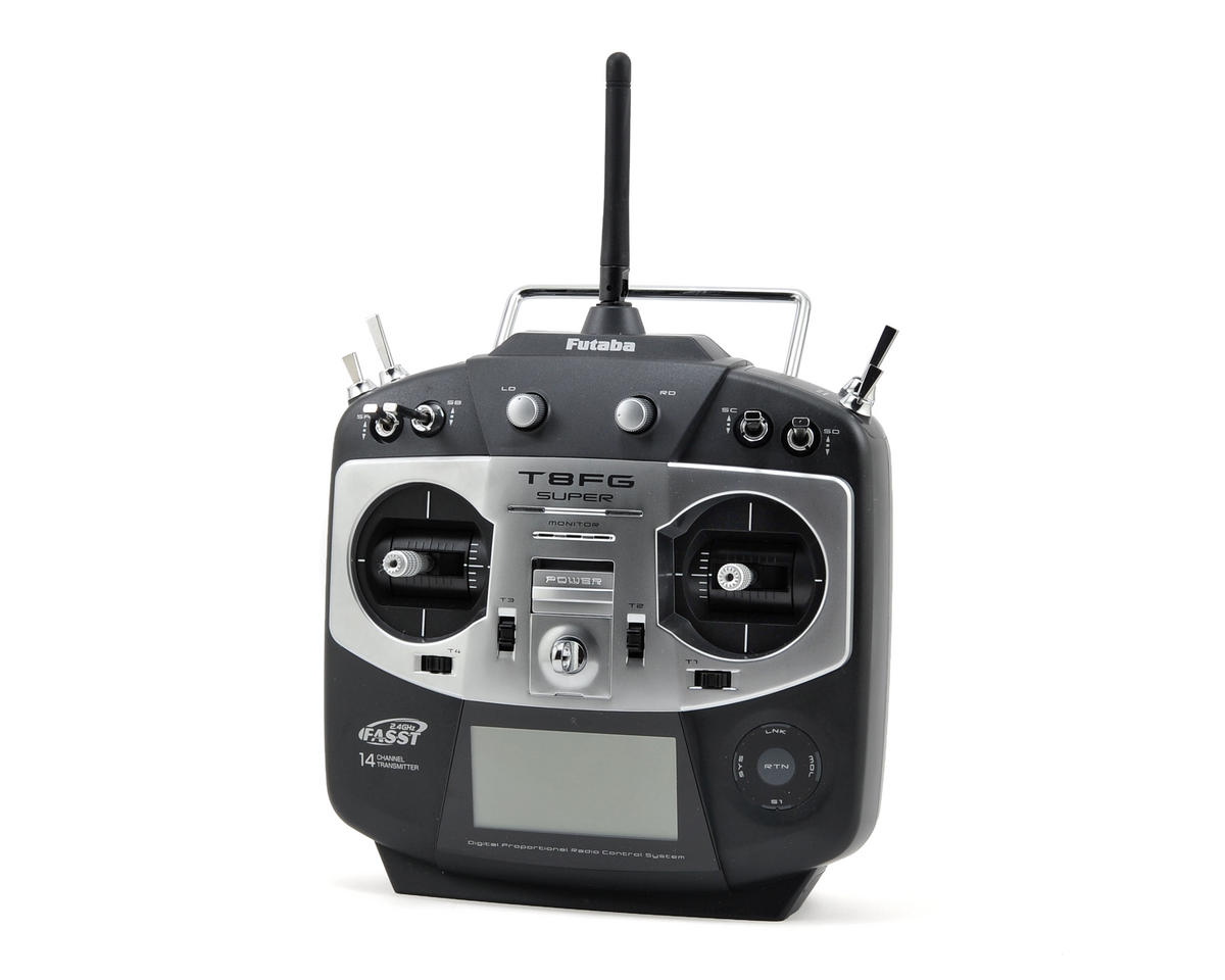 Futaba 8FG Super 2.4GHz FASST 14-Channel Heli Radio System w/R6208SB Receiver