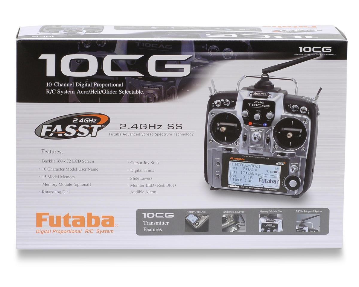 "Futaba 10CG 2.4 GHz FASST ""Helicopter"" Radio System w/R6014HS Receiver"