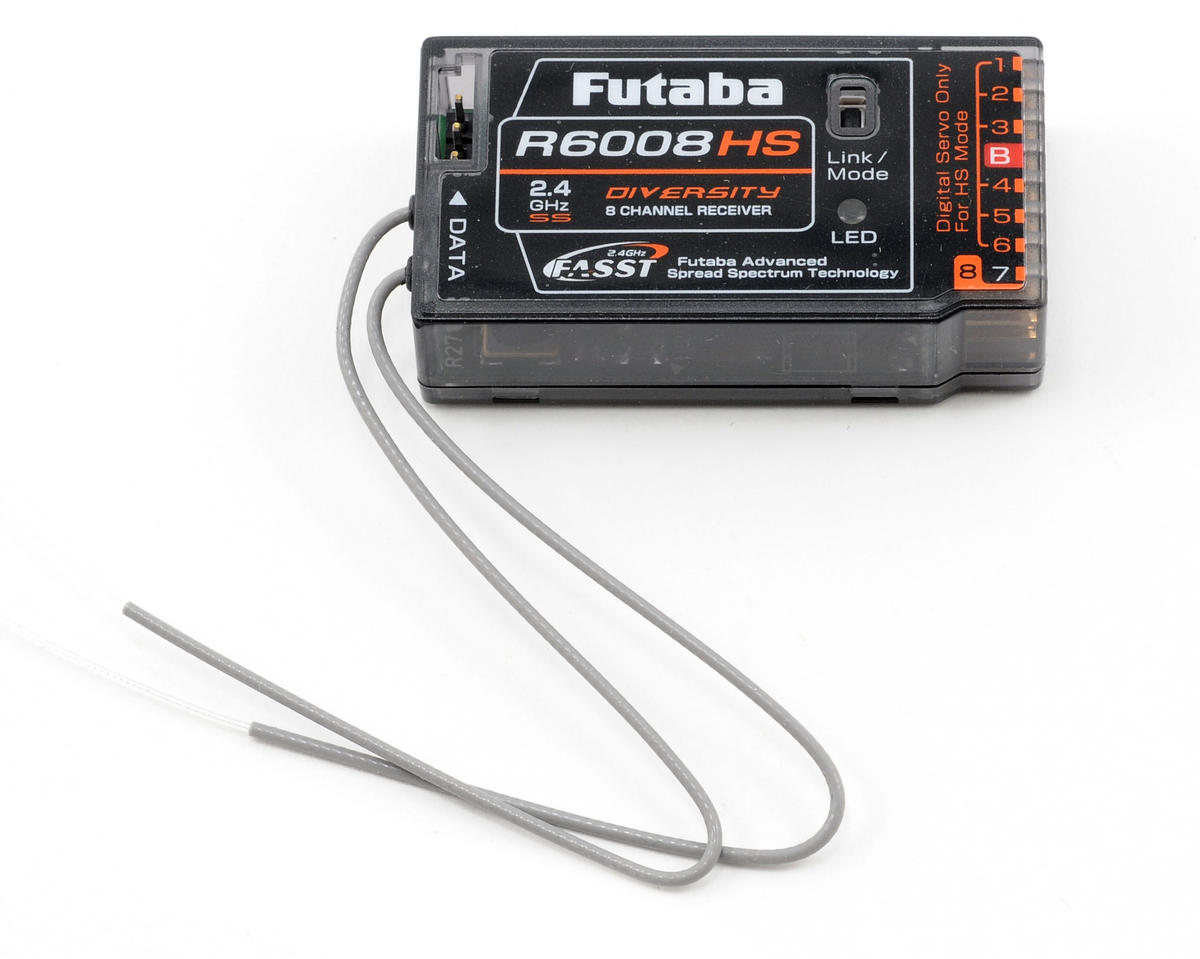 Futaba R6008HS 2.4GHZ FASST 8 Channel Receiver