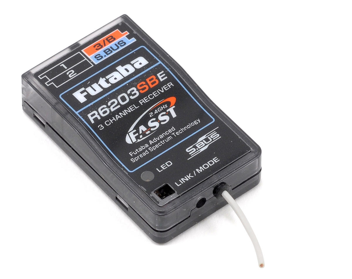 Futaba R6203SBE 3/18 Channel 2.4GHz FASST High Voltage Micro S.Bus Receiver