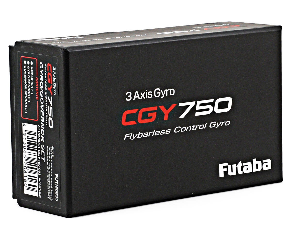 Futaba CGY750 Flybarless 3 Axis Gyro w/Governor & Control Unit