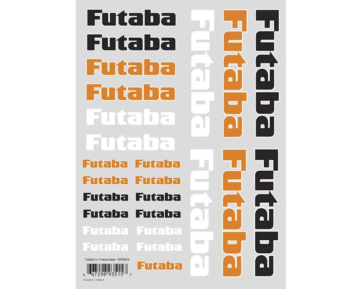 Futaba Air Die Cut Decal Sheet 8x11""