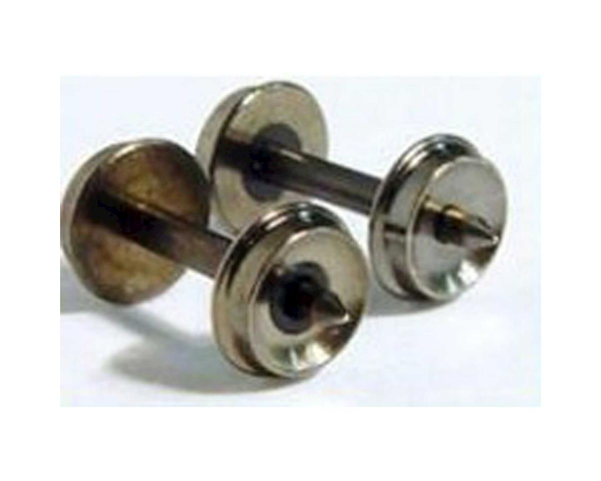 "N Brass Wheels, 33""/0.553"" Axle (12)"
